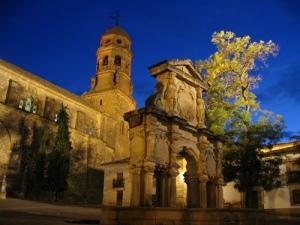 Plaza y fuente de Santa Maria, Baeza (Jaén).