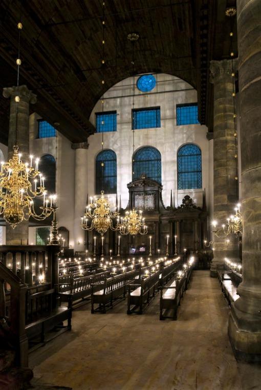 Interior de la Esnoga de Amsterdam