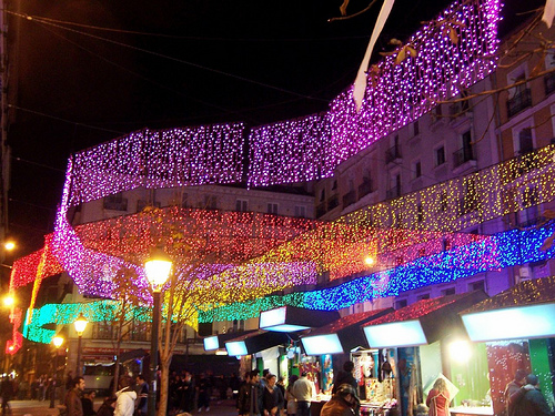 Plaza Chueca, Madrid (luces)