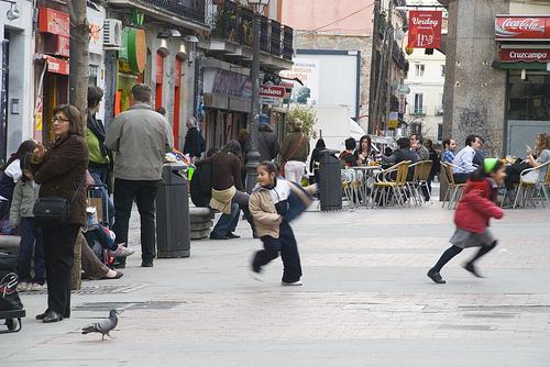 plaza de Chueca (niños)