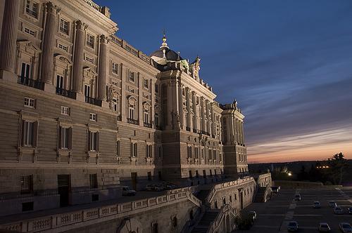 Palacio de Oriente lateral Campo del Moro