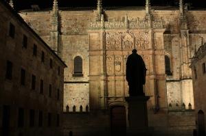 «Salamanca noche Universidad», foto de Julio Alonso Arévalo, 17 de enero de 2009.