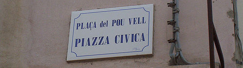 «Bilingualism», foto de GiulioZu, 27 de agosto de 2005.