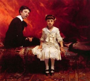 «Portrait of Edouard and Marie-Loise Pailleron» de J. S. Sargent (1881), Des Moines Art Center, Iowa.