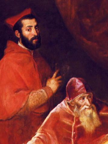 Paolo III con suoi nipoti RECORTE Alessandro