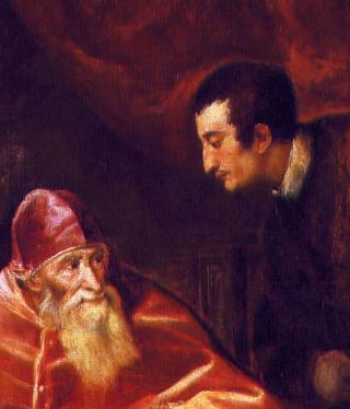 Paolo III con suoi nipoti RECORTE Ottavio